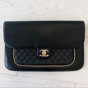 Chanel Unchained Evening Clutch Black